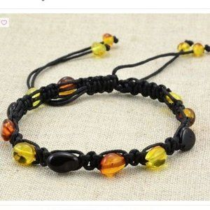 Natural Baltic Amber Adjustable Bracelet
